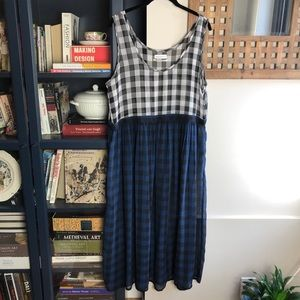 URBAN OUTFITTERS Gingham Check Maxi Dress Large